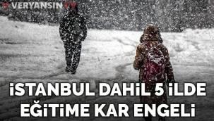 İstanbul ve birçok ilde yüz yüze eğitime kar engeli