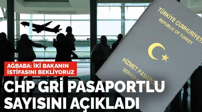Gri pasaportluların sayısını açıkladı