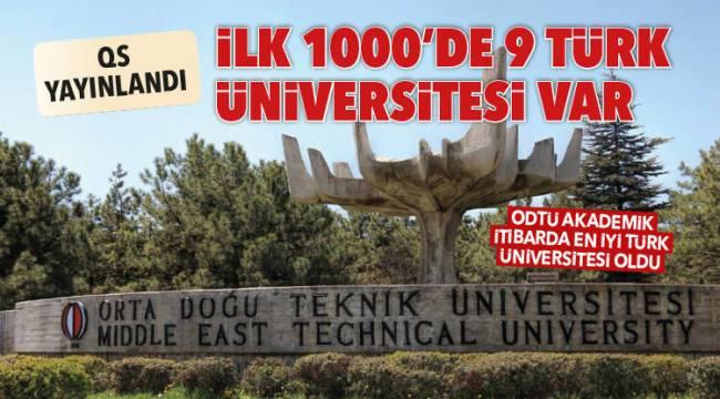 ODTÜ Akademik itibarda en iyi Türk üniversitesi oldu