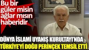 Dünya İslami Uyanış Kurultayı'nda Türkiye'yi Doğu Perinçek temsil etti