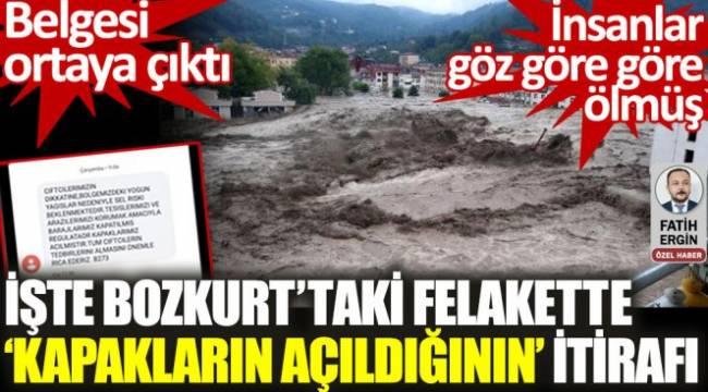 Bozkurt'taki felakette kapakların açıldığının belgesi ortaya çıktı