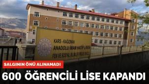 Kars'ta koronavirüs yüzünden Anadolu İmam Hatip Lisesi kapandı
