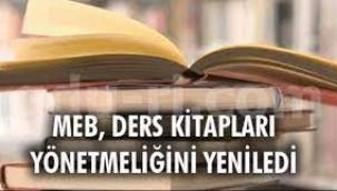 Ders kitapları yönetmeliği yenilendi