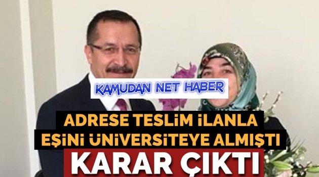 Eşi için 'adrese teslim' ilan açan rektör görevden alındı