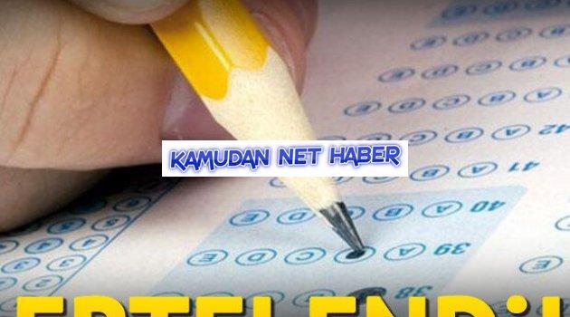İlköğretim ve Orta Öğretim Kurumları Bursluluk Sınavı ile Adaylık Kaldırma Sınavı ertelendi