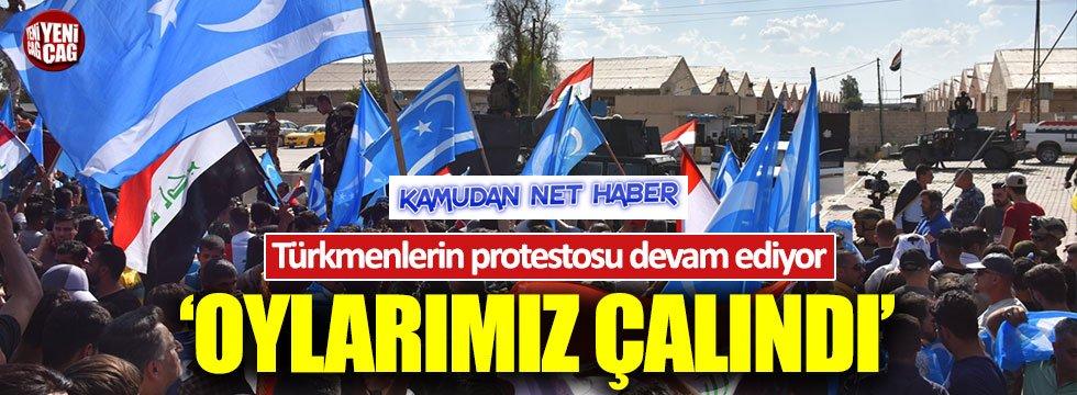 Kerkük'teki Türkmenlerin seçim protestosu sürüyor