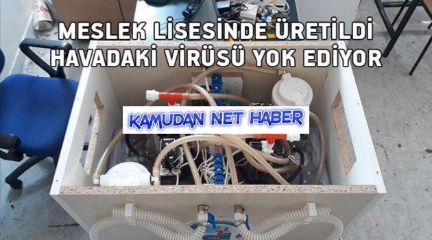 Meslek lisesinde üretildi… Havadaki virüsü yok ediyor