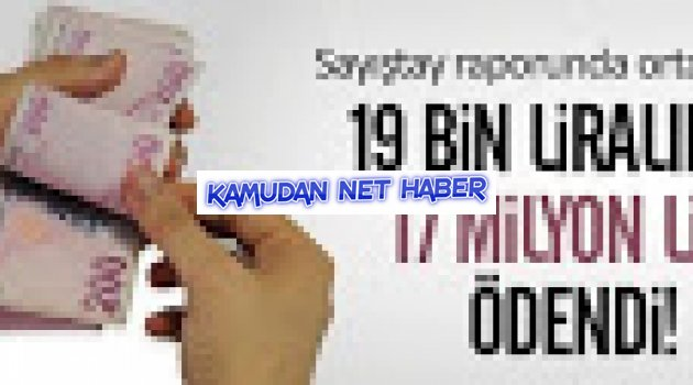 Sayıştay: 19 bin liralık işe 17 milyon lira ödendi