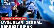 39 ülkeden Çin'e ortak mektup: Uygurları serbest bırak