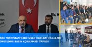 Doğu Türkistan'daki İnsan Hakları İhlalleri Konusunda Basın Açıklaması Yapıldı
