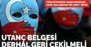 Türkistander Başkanı Burhan Kavuncu: Utanç belgesi geri çekilmeli