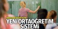Yeni ortaöğretim sistemi