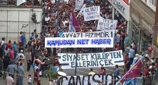 Trabzon'da 'RTE' öfkesi