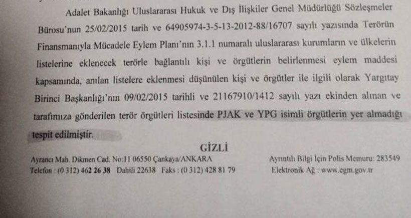"""Daha Önce İçişleri Bakanlığı: """"YPG terör örgütü değildir"""" demiş"""