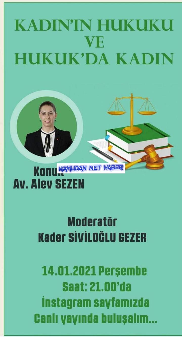 """Yazarımız Alev Sezen """"Kadın Hukuku ve Hukukta Kadın"""" konusunda canlı canlı yayın konuğu"""